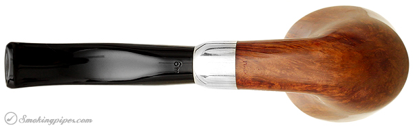 Italian Estate Savinelli Autograph Smooth Bent Dublin with Silver Band (6mm)