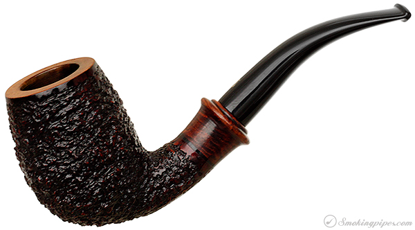 Italian Estate Ser Jacopo Rusticated Bent Egg with Briar Mount (R1)