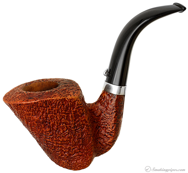 L'Anatra Sandblasted Bent Dublin with Silver Band