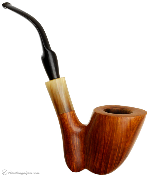 Italian Estate Savinelli Autograph Smooth Freehand with Horn (5)