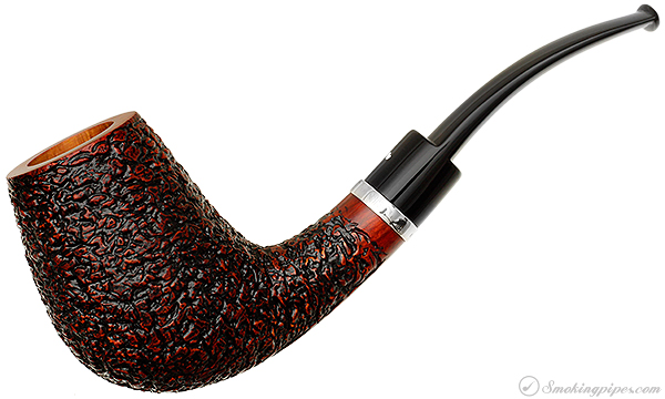 Italian Estate Caminetto Rusticated Bent Brandy with Silver Band (8.L.15) (Unsmoked)