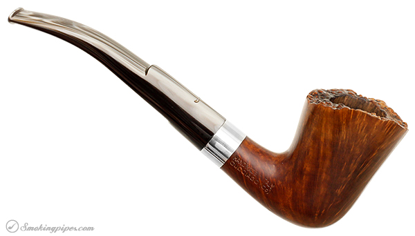 Italian Estate Caminetto Smooth Bent Dublin with Silver Band (KS) (3) (1970s)
