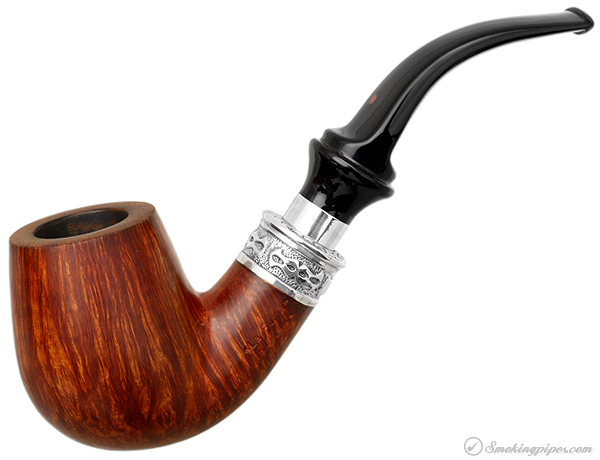 "Italian Estate Ser Jacopo ""La Fuma"" Smooth Bent Billiard with Silver Delecta Mount"