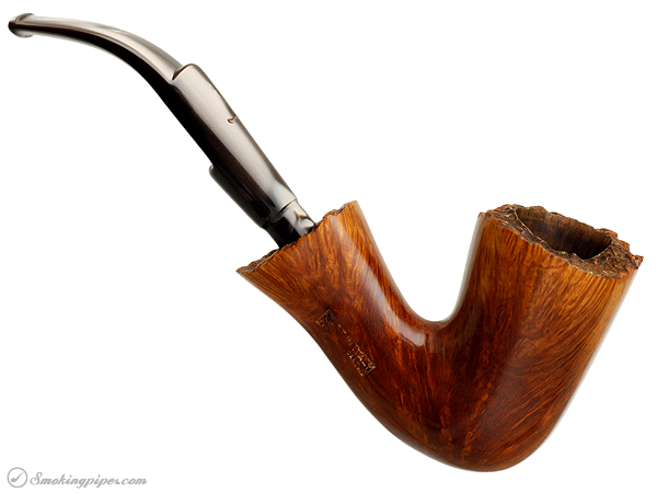 Italian Estate Caminetto Smooth Bent Dublin with Plateau (Gold Moustache) (1970s)