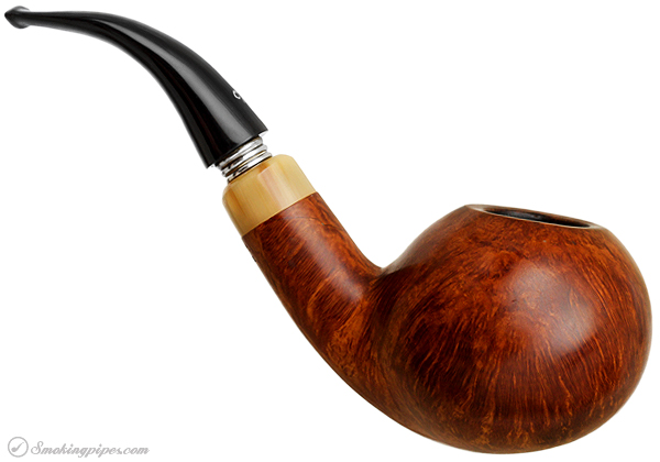Italian Estate Luigi Viprati La Pipa Smooth Bent Apple with Horn Ferrule (5 Clover) (Shank Repair)