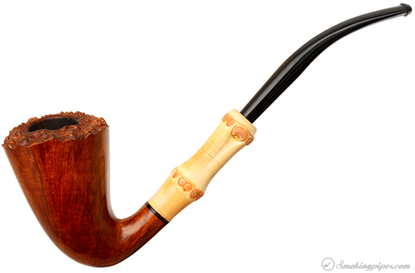 Japanese Estate Tsuge Tokyo Smooth Bent Dublin with Bamboo (502)