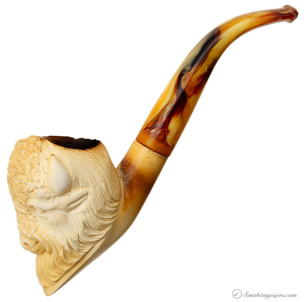 Misc. Estate CAO Meerschaum Carved Buffalo Head (with Case)