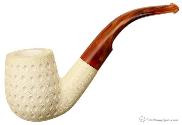CAO Meerschaum Lattice Bent Billiard (with Case) (Unsmoked)