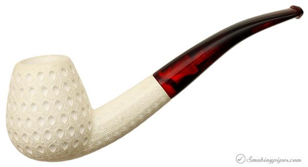 Unknown Meerschaum Lattice Bent Brandy (with Case) (Unsmoked)