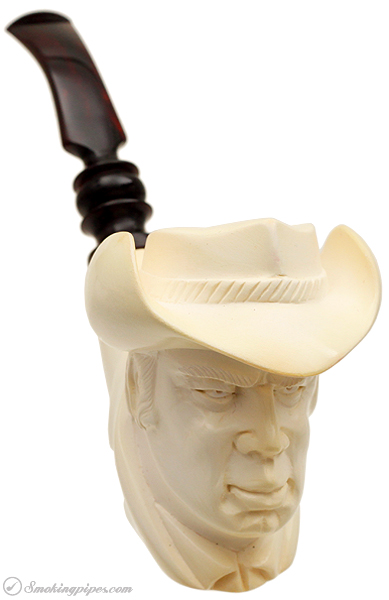 Misc. Estate Akdolu Meerschaum George Kennedy as Cowboy (with Case) (Unsmoked)
