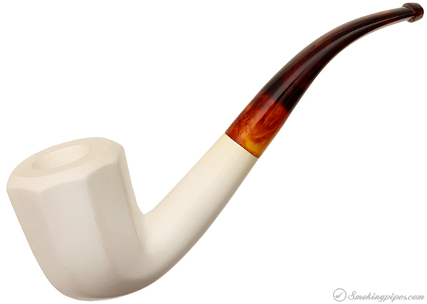 First Quality Meerschaum Smooth Panel Bent Dublin (with Case) (9mm) (Unsmoked)