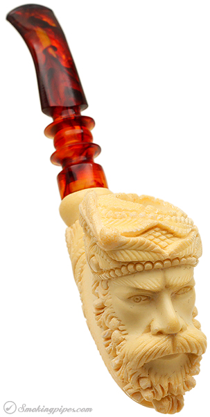 Misc. Estate Unknown Meerschaum Turkish Prince (with Case) (Unsmoked)