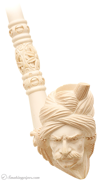 Misc. Estate Unknown Meerschaum Figural Sultan (Extra Long) (Unsmoked)