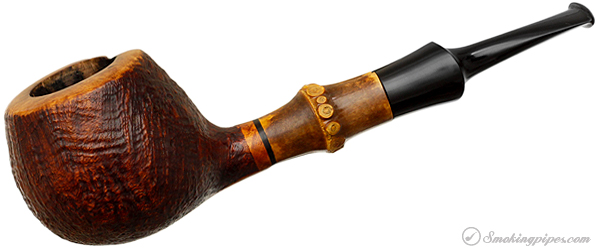 Misc. Estate Sergei Cherepanov Sandblasted Apple with Bamboo