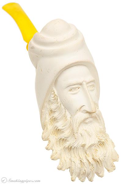 Misc. Estate Unknown Meerschaum Bearded Man with Rakish Cap (Unsmoked)
