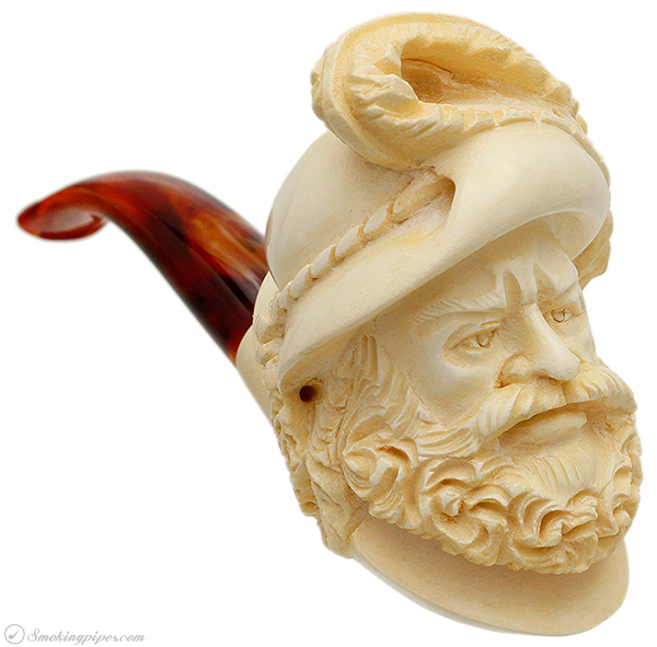 Misc. Estate Unknown Meerschaum Man with Hat (Unsmoked)