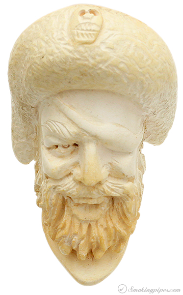 Misc. Estate Unknown Meerschaum Carved Pirate (with Case)