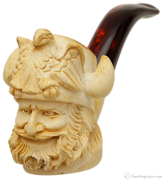 Misc. Estate Unknown Meerschaum Bearded Man with Manly Hat (with Case)