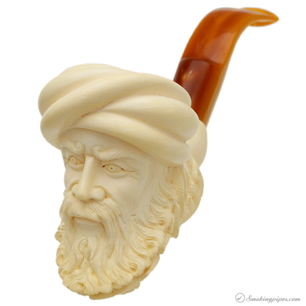 Misc. Estate I. Baglan Meerschaum Man and Eagle (with Case) (Unsmoked)
