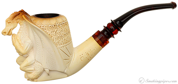 Misc. Estate SMS/O.Ikibas Meerschaum Dragon that was just proposed to (and said YES!)(with Case) (1989)