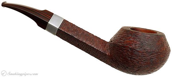 Misc. Estate Michael Parks Rusticated Bent Bulldog with Nickel Band (III.)