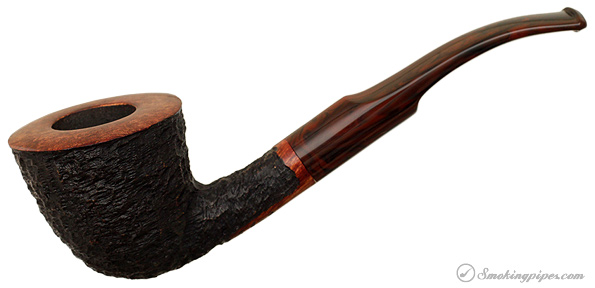 American Estate Randy Wiley Galleon Rusticated Bent Dublin (44) (Unsmoked)