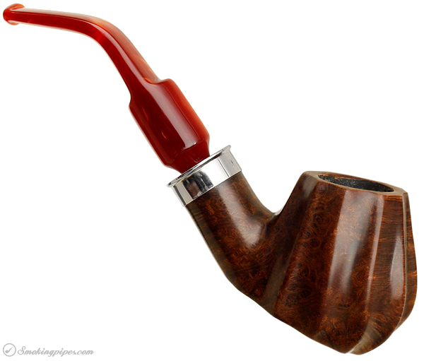 American Estate J. M. Boswell Smooth Carved Bent Brandy Sitter with Silver (2011) (Unsmoked)
