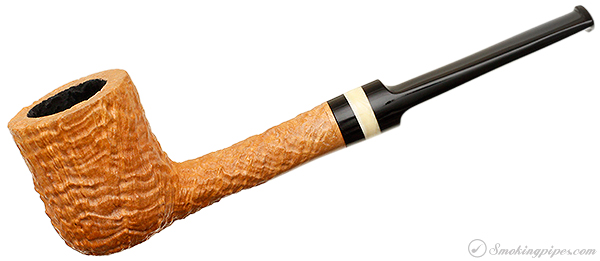 American Estate Turner Sandblasted Billiard with Mammoth Ivory (12*25) (Unsmoked)