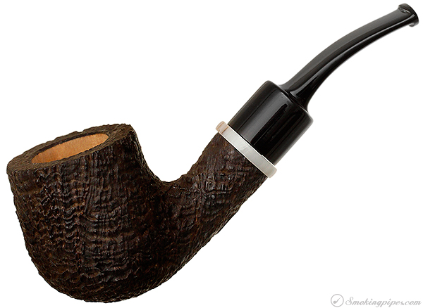 American Estate Kevin Arthur Sandblasted Bent Billiard (Unsmoked)
