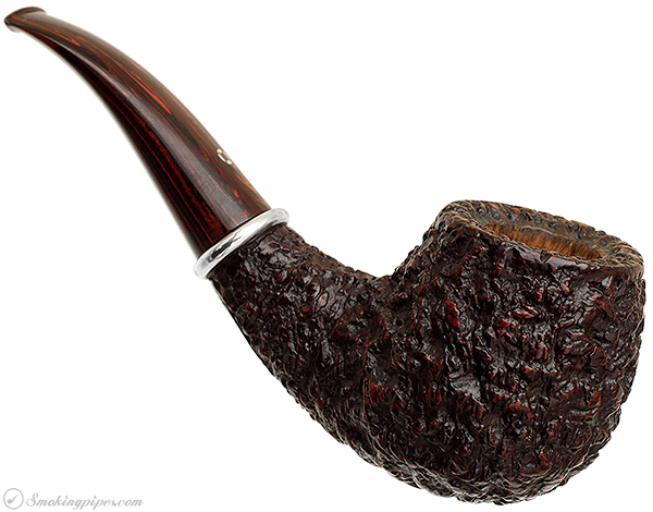 American Estate Larry Roush Rusticated Bent Brandy with Silver (6) (511) (2002)