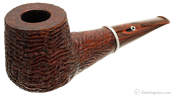 American Estate Larry Roush Sandblasted Billiard with Silver (S4) (2006) (2012) (Unsmoked)