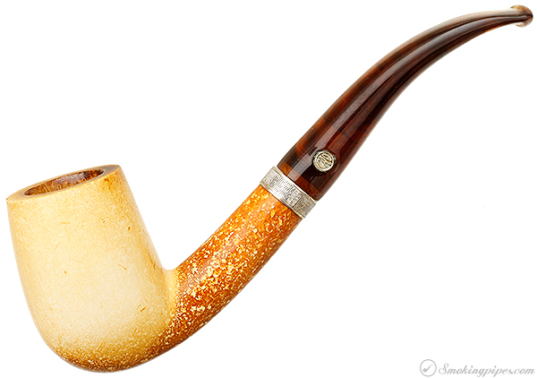 CAO/Bekler Meerschaum Smooth Bent Billiard with Silver (with Case)