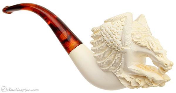 Turkish Estates Sultan Meerschaum Surprised Pegasus (with Case) (Unsmoked)
