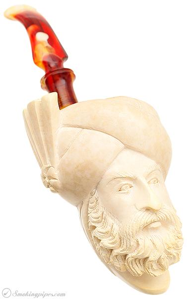 Turkish Estates Unknown Meerschaum Man with Turban