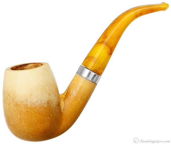 Paykoc Meerschaum Smooth Bent Billiard (with Case)