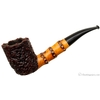 Radice Rind Bent Billiard with Bamboo Carving