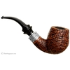 Ser Jacopo Sandblasted Bent Billiard with Silver Delecta Mount (S2)