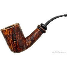 P. Jeppesen Handmade Ida Easy Cut Sandblasted Bent Billiard (2)