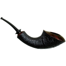 J. Alan Partially Sandblasted Horn (1055)
