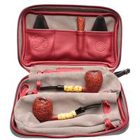 J. Alan Sandblasted Acorn Two Pipe Set with Ping Zhan (with Tamper and Claudio Albieri Case)
