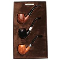 Castello Castello 3 Pipe Set (with Leather Box)