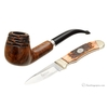 Nording Private Reserve Spot Carved Billiard Pipe & Knife Set (2009)