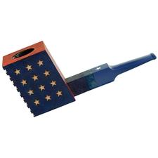 Sandblasted De Stijl American Flag Poker