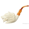 AKB Meerschaum Carved Panting Wolf (with Case)