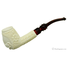 Carved Bent Billiard (with Case)