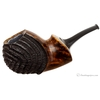 Ping Zhan Partially Rusticated Reverse Calabash Bent Apple with Horn