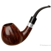 Danish Estates S. Bang Smooth Bent Brandy with Silver Band (Two Stems) (Giant) (B) (Pre-1984)