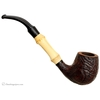 Danish Estates Stanwell Sandblasted Bent Billiard with Bamboo