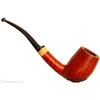 Danish Estates Jorgen Nielsen Partially Rusticated Bent Billiard with Boxwood Ferrule (Unsmoked)