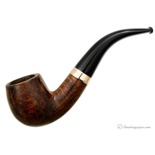The University Pipe Smooth Bent Billiard with Band (1920)